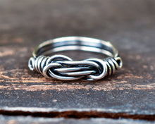 Commitment Ring Set for Him and Her - Sterling Silver