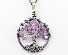 Silver Alexandrite Tree of Life Crystal Necklace (June)