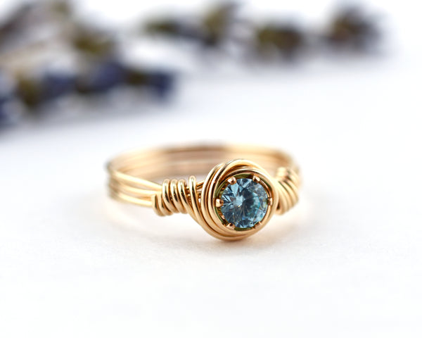 Girl's Aquamarine Birthstone Ring
