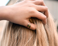 Dandelion Wish Wrap Ring - Copper