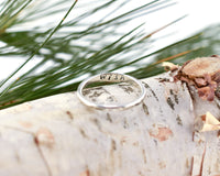 Sterling Silver Dandelion Wish Solid Band Ring