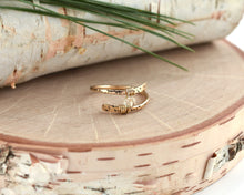 Dandelion Wish Wrap Ring - 14K Yellow Gold Filled