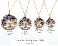 Gold Filled Family Tree of Life