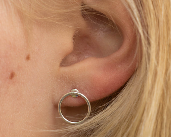 Hoop Post Earrings