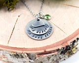 My sister, My best friend - Stainless Steel Hand Stamped Necklace