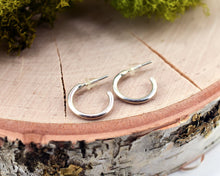 Tiny Sterling Silver Open Hoop Earrings