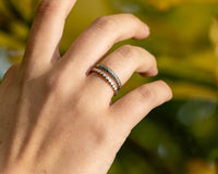 Four Petal Stacker Ring