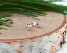 Rose Quartz Sterling Silver Stud Earrings