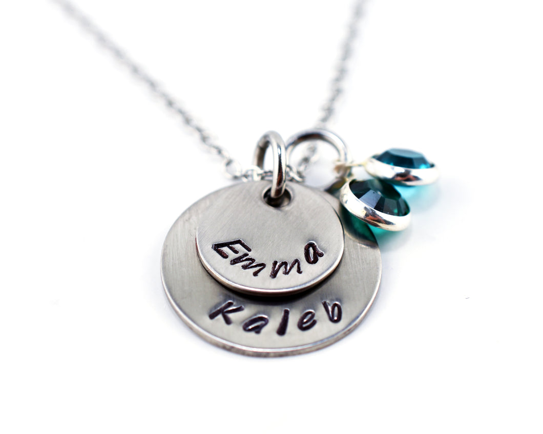 Two Name Stamped Necklace