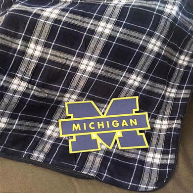COLLEGE LOGO FLANNEL BLANKET - Out of the Box NY Gifts