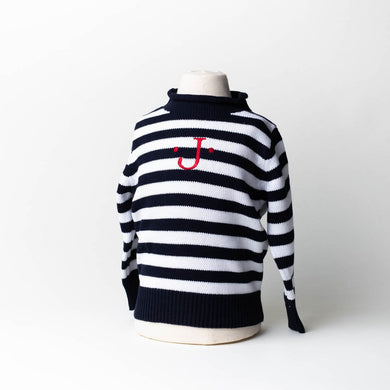STRIPED JERSEY ROLLNECK SWEATER - Out of the Box NY Gifts