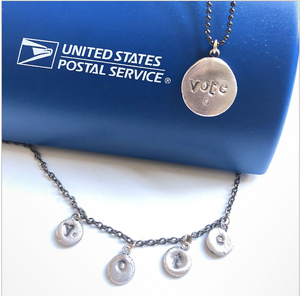 VOTE NECKLACE - Out of the Box NY Gifts