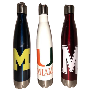 COLLEGE LOGO WATER BOTTLE - Out of the Box NY Gifts