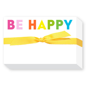 BE HAPPY! Chubby Notepad - Out of the Box NY Gifts