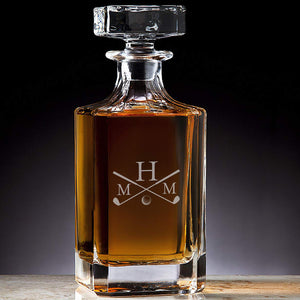 ENGRAVED CRYSTAL DECANTER - Out of the Box NY Gifts