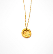 HEART CHARM NECKLACE - Out of the Box NY Gifts