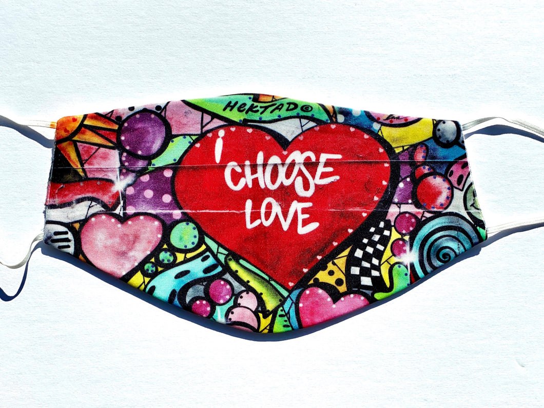 CHOOSE LOVE FACE MASK - Out of the Box NY Gifts