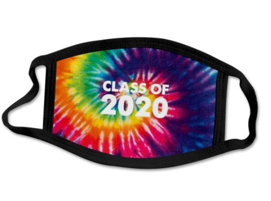 CLASS OF 2020 FACE MASKS - TIE DYE - Out of the Box NY Gifts
