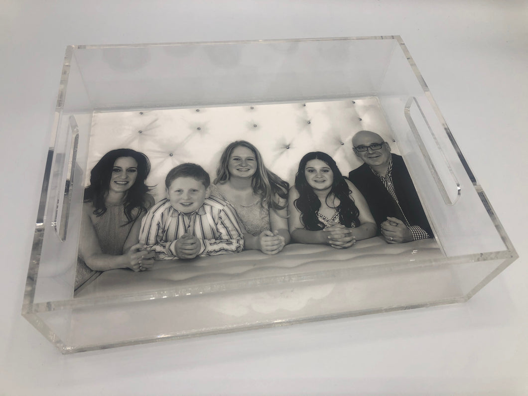 CUSTOM PHOTO LUCITE TRAY - Out of the Box NY Gifts
