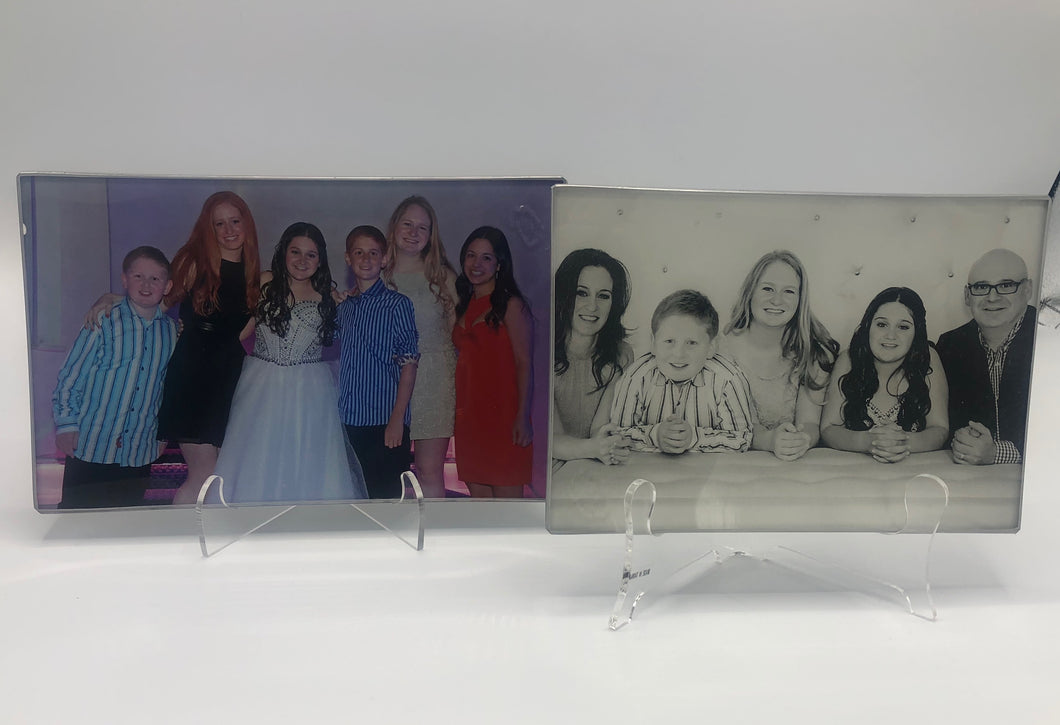 CUSTOM PHOTO GLASS PLATE - Out of the Box NY Gifts