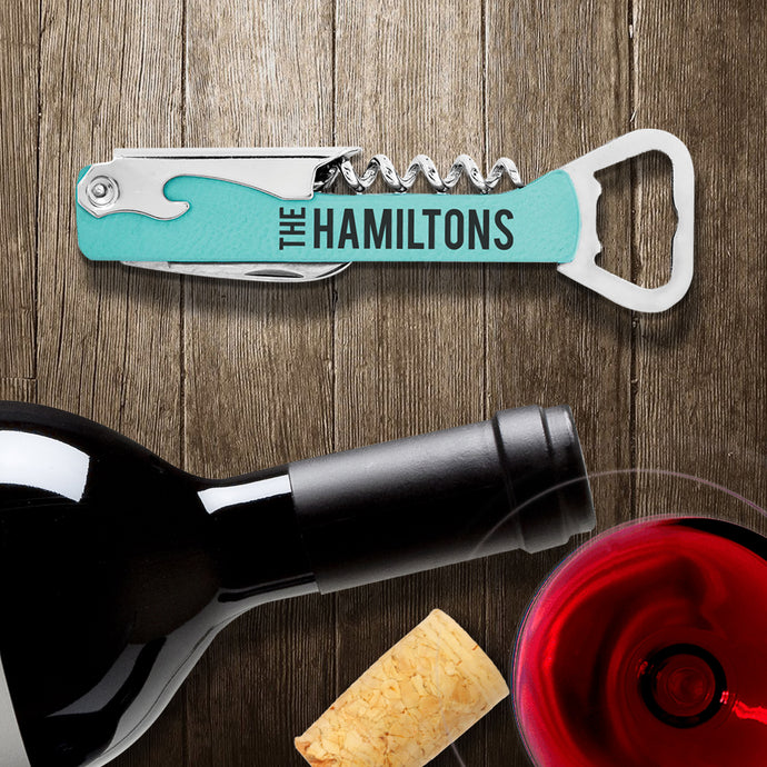 ENGRAVED WINE AND BOTTLE OPENER - Out of the Box NY