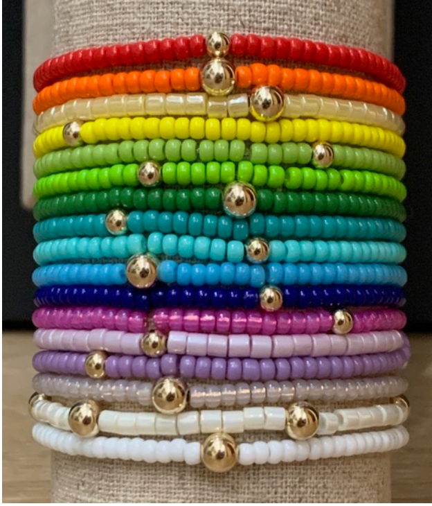 RAINBOW BEADED BRACELETS - Out of the Box NY Gifts