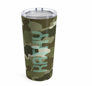 GREEN CAMO TUMBLER - Out of the Box NY Gifts