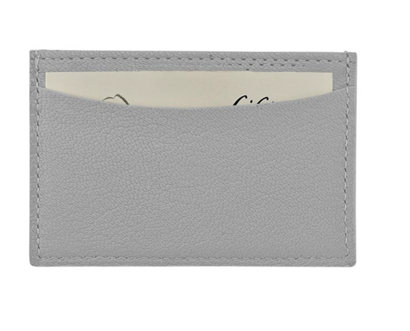 SLIM CARD CASE GOATSKIN LEATHER - Out of the Box NY Gifts