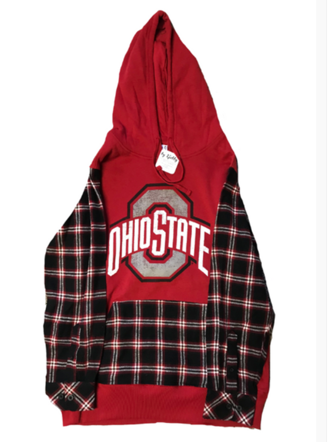 COLLEGE FLANNEL HOODIE SWEATSHIRT - Out of the Box NY Gifts