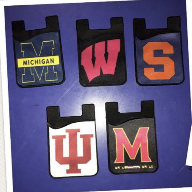 COLLEGE CARD CADDY FOR CELL PHONE - Out of the Box NY Gifts