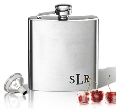 STAINLESS STEEL HIP FLASK (8 OZ) - Out of the Box NY Gifts