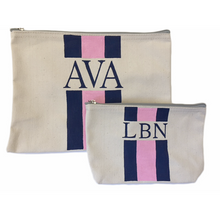 SMALL CANVAS POUCH WITH STRIPES - Out of the Box NY Gifts