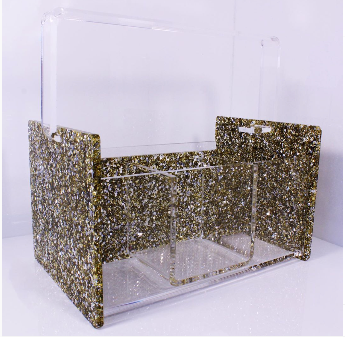 ACRYLIC SILVERWARE CADDY - Out of the Box NY Gifts