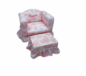 CHAIR WITH RUFFLED SKIRT - Out of the Box NY Gifts