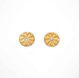 DAISY DIAMOND STUD EARRINGS - Out of the Box NY Gifts
