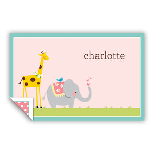 GIRAFE/ELEPHANT PLACEMAT - Out of the Box NY Gifts