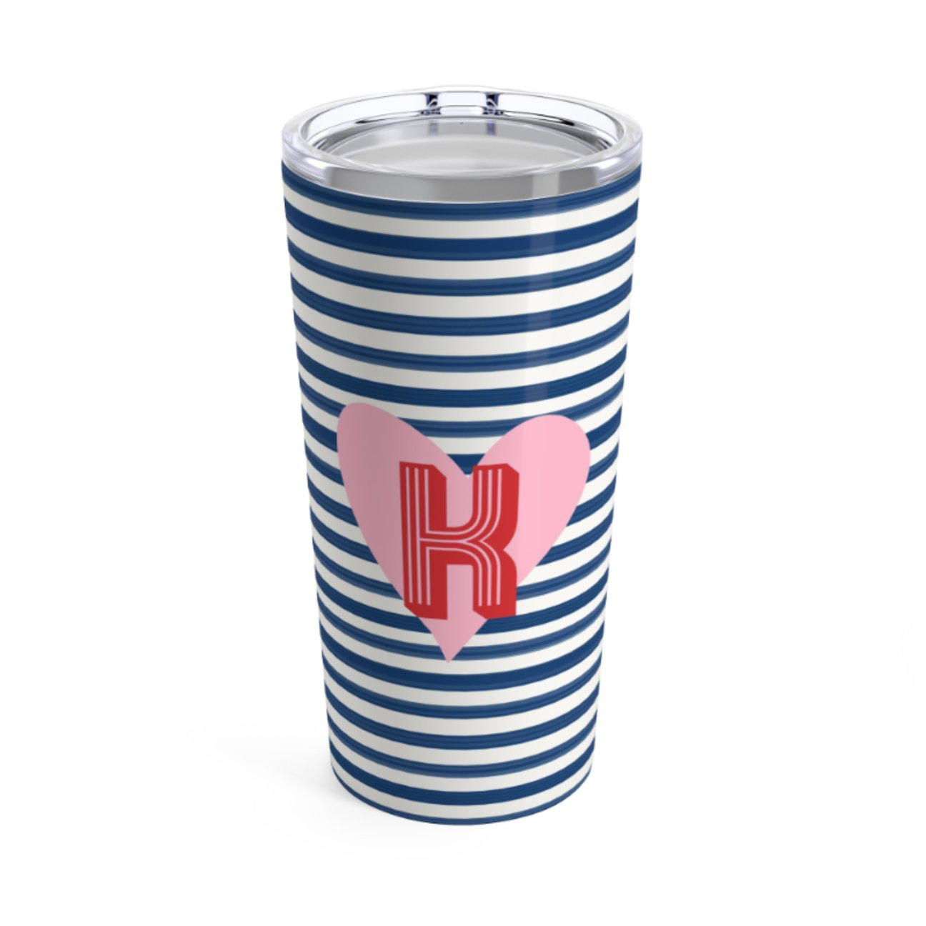 STRIPES & HEARTS TUMBLER - Out of the Box NY Gifts