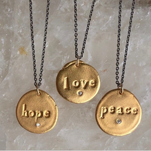 PEACE CHARM NECKLACE - Out of the Box NY Gifts