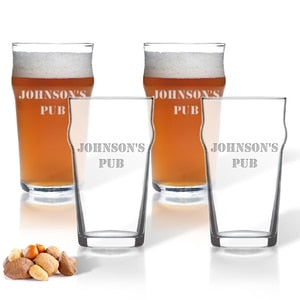 PERSONALIZED PINT GLASSES (4) - Out of the Box NY Gifts