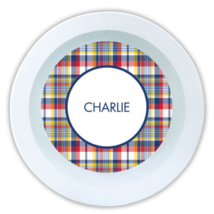 PLAID MELAMINE BOWL - Out of the Box NY Gifts