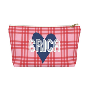 PLAID & HEART MAKE-UP BAG - Out of the Box NY Gifts