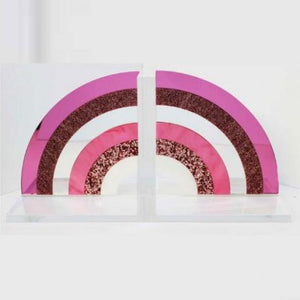 PINK RAINBOW BOOKENDS - Out of the Box NY Gifts