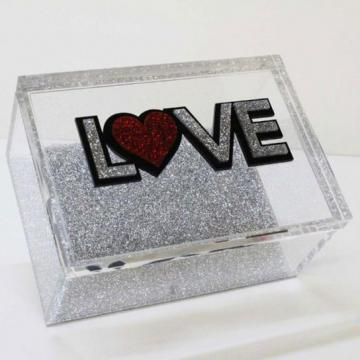 LOVE BOX - SILVER - Out of the Box NY Gifts