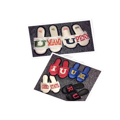 COLLEGE MEMORY FOAM SLIPPERS - Out of the Box NY Gifts
