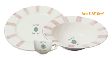 CERAMIC DISH/BOWL & CUP - STRIPE - CUTIE PIE - Out of the Box NY Gifts
