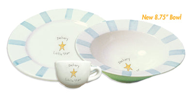 CERAMIC DISH/BOWL & CUP - STRIPE - LITTLE STAR - Out of the Box NY Gifts