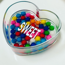 HEART GLASS DISH - Out of the Box NY Gifts