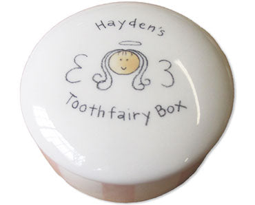 CERAMIC TOOTHFAIRY KEEPSAKE BOX - Out of the Box NY Gifts