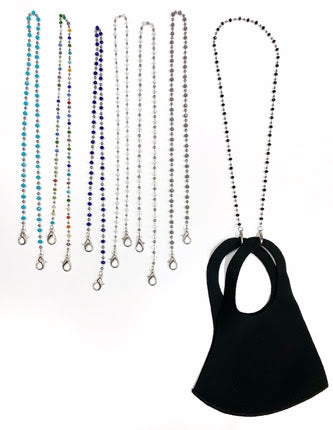 FACE MASK CHAINS - CRYSTAL - LIMITED COLORS AVAILABLE - Out of the Box NY Gifts