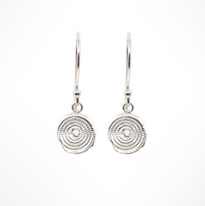 ZEN CIRCLES DIAMOND HANGING EARRINGS - Out of the Box NY Gifts